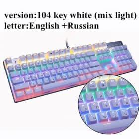 104 backlit white RU