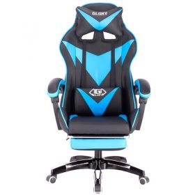 blue footrest